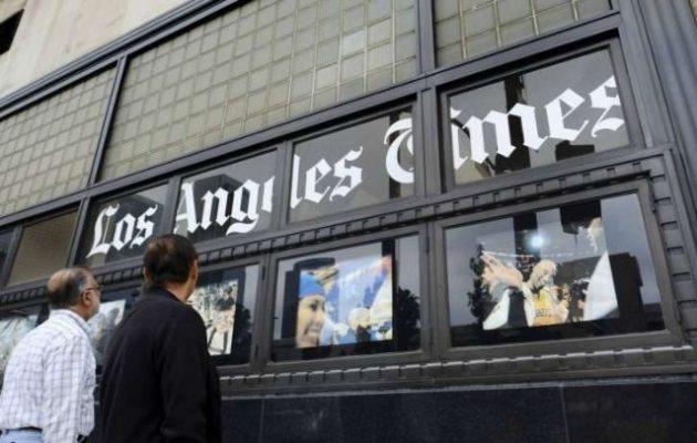 Αλλάζει χέρια η ιστορική εφημερίδα «Los Angeles Times» – Ποιος την αγοράζει