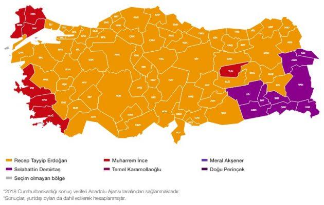 Πρώτος με 55% ο Ερντογάν στο 73,7% των εκλογικών τμημάτων