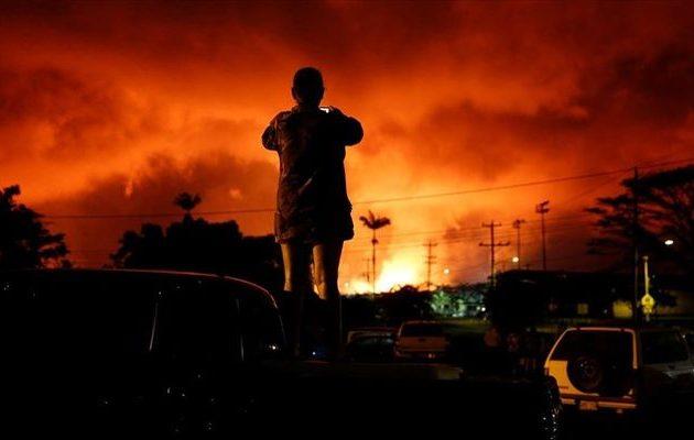 Η λάβα συνεχίζει να «καταπίνει» εκατοντάδες σπίτια στη Χαβάη – Ξεπέρασαν τα 600 (βίντεο)