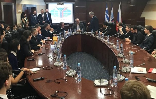 Κοτζιάς σε πανεπιστήμιο της Μόσχας: «Η Ελλάδα πυλώνας σταθερότητας σε μια ασταθή περιοχή»