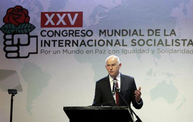 Ρημάδια το ΚΙΝΑΛ: Ο Παπανδρέου της Σοσιαλιστικής Διεθνούς υπέρ της συμφωνίας με τα Σκόπια