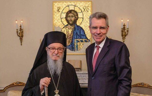 Συνάντηση Πάιατ με Αρχιεπίσκοπο Αμερικής Δημήτριο – Στο επίκεντρο οι Πρέσπες