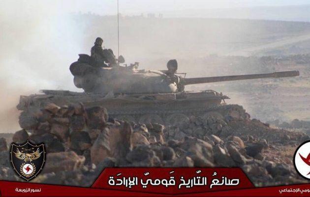 Στρατός και Συριακό Σοσιαλιστικό Εθνικιστικό Κόμμα κυνηγάνε το Ισλαμικό Κράτος στην έρημο (φωτο)