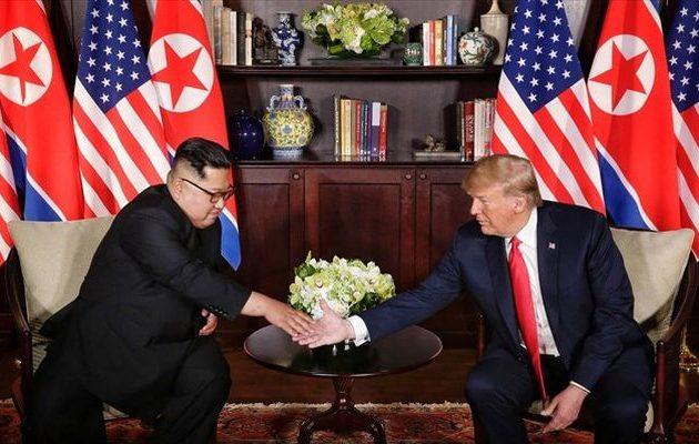 Ο Τραμπ αποκάλυψε την επιστολή που έλαβε από τον Κιμ Γιονγκ Ουν