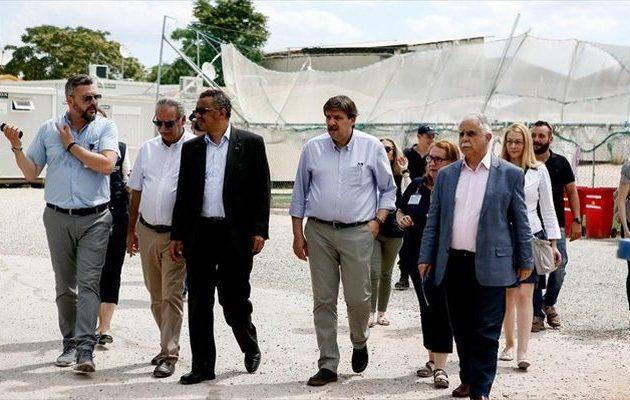 Στους πρόσφυγες του Ελαιώνα ο επικεφαλής του Παγκόσμιου Οργανισμού Υγείας