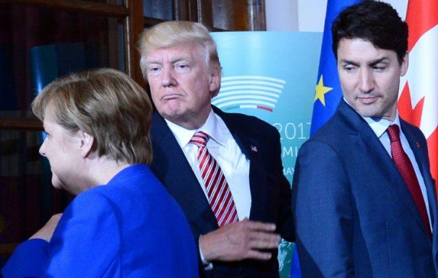Στόχος του Τραμπ να «πληρώσουν» οι Γερμανοί – «Δέρνει» τον Τριντό ως μήνυμα στη Μέρκελ