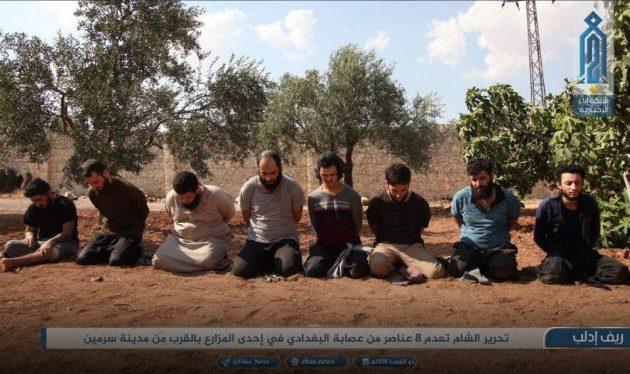 Η συριακή Αλ Κάιντα εκτέλεσε οκτώ μέλη της οργάνωσης Ισλαμικό Κράτος στην Ιντλίμπ