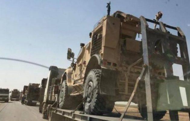Μεγάλη αμερικανική στρατιωτική φάλαγγα εισήλθε στην ανατολική Συρία