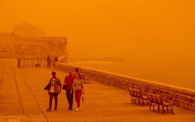 Αφρικανική σκόνη από τη Σαχάρα σκεπάζει την Κρήτη