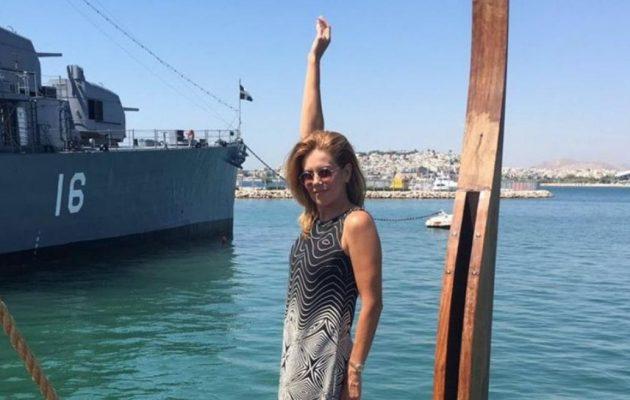 Ατύχημα για την Ευγενία Μανωλίδου – Έπεσε από την τριήρη Ολυμπιάς στη θάλασσα!