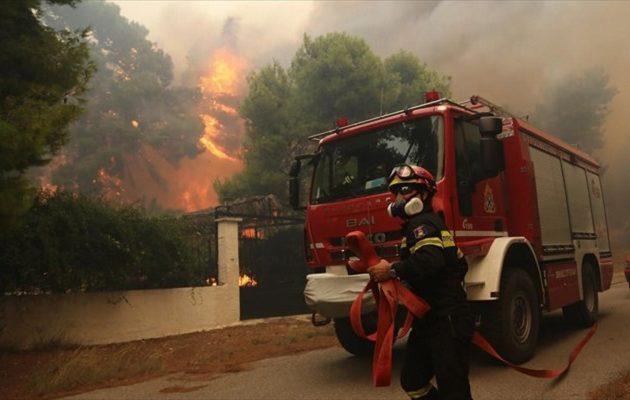 Μπαράζ πυρκαγιών στην Κορινθία