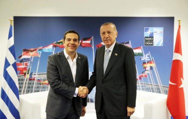 Ολοκληρώθηκε η συνάντηση Τσίπρα-Ερντογάν στις Βρυξέλλες