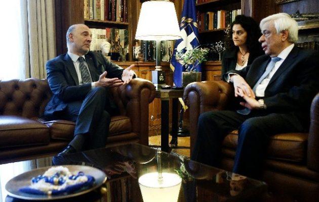 Μοσκοβισί σε γραμμή Τσίπρα:  H Ελλάδα στέκεται ελεύθερα στα πόδια της-Stop στα fake news του Κούλη
