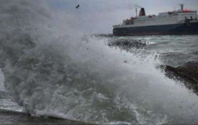 ΕΜΥ: Έκτακτο δελτίο καιρού για θυελλώδεις ανέμους σε ολόκληρο το Αιγαίο