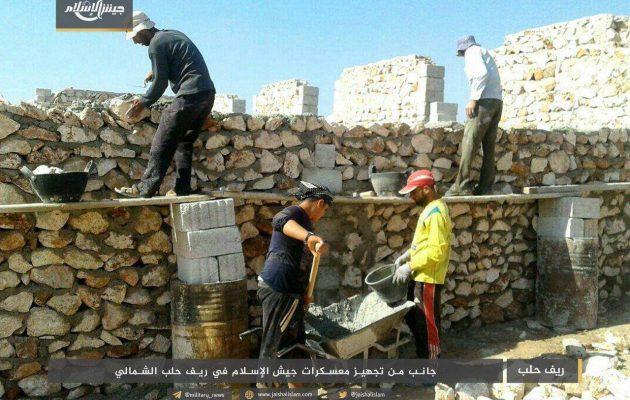 Οι τζιχαντιστές της Τζαΐς Αλ Ισλάμ χτίζουν οχυρώματα στη βορειοδυτική Συρία