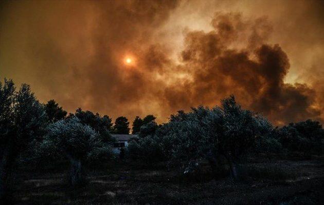 Μαίνεται η φωτιά στην Εύβοια – Σε δύο μέτωπα η μάχη με τις φλόγες