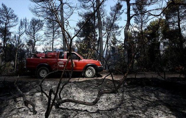 Σε ύφεση η μεγάλη πυρκαγιά στην Εύβοια