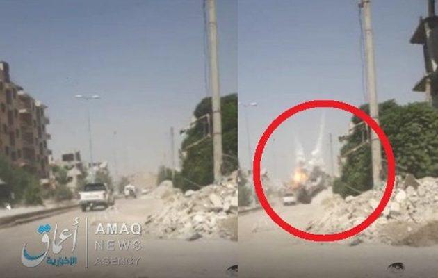 Το Ισλαμικό Κράτος μιλά για Κούρδους και Αμερικανούς τραυματίες από βομβιστική επίθεση στη Ράκα