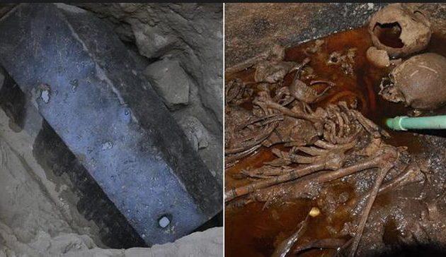 Η μεγάλη γρανιτένια σαρκοφάγος της Αλεξάνδρειας είχε μέσα δύο άνδρες και μία γυναίκα