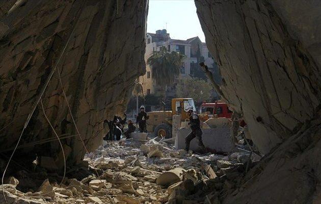 Στους 69 οι νεκροί από έκρηξη σε αποθήκη όπλων στη βορειοδυτική Συρία