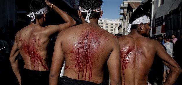 Σιίτες μουσουλμάνοι αυτομαστιγώθηκαν στον Πειραιά για να γιορτάσουν την Ασούρα (φωτο)
