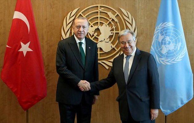 Ο Γκουτέρες «αναγνώρισε» ότι ο Ερντογάν έχει ρόλο στη Συρία