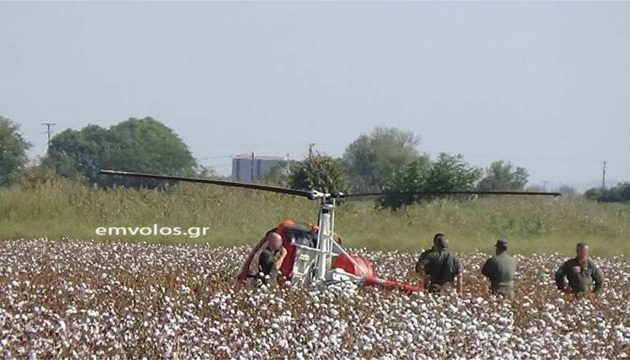 Αναγκαστική προσγείωση στρατιωτικού ελικοπτέρου στην Ημαθία (φωτο)
