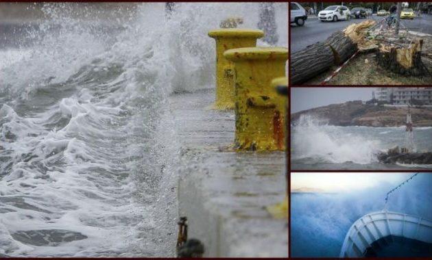 Στο έλεος του κυκλώνα: Στα 140 χλμ/ώρα οι άνεμοι που «μαστιγώνουν» τη χώρα!