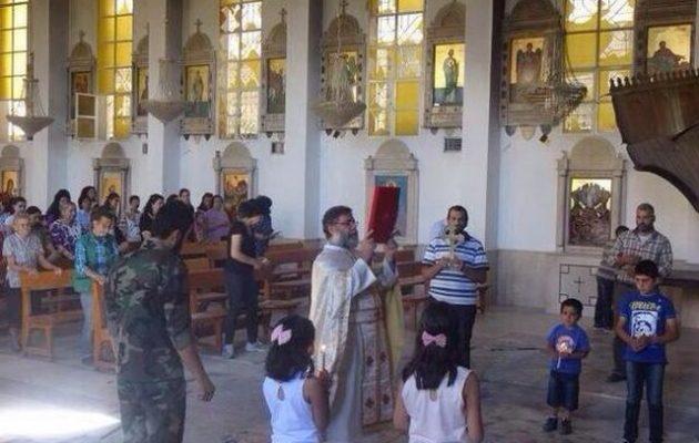 Οι Μελχίτες της Συρίας ξεκίνησαν την αναστήλωση της εκκλησίας του Αγίου Γεωργίου που έκαψαν οι τζιχαντιστές