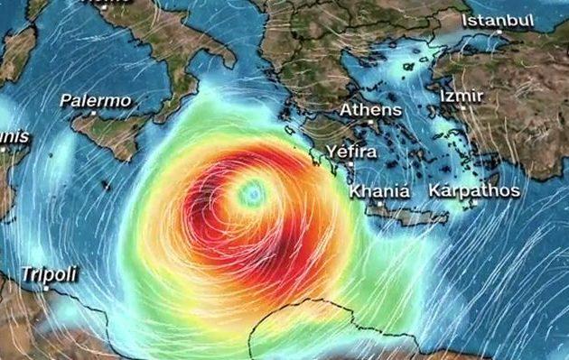 Καιρός: Δείτε σε βίντεο πώς θα κινηθεί ο κυκλώνας – Σε ποιες φάσεις και που θα «χτυπήσει»