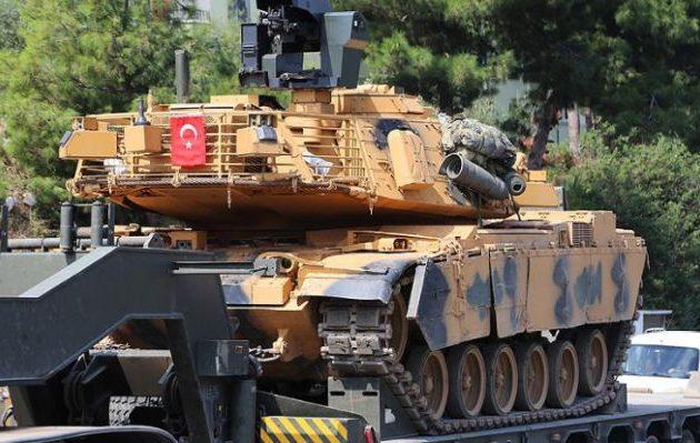 Η Τουρκία συγκεντρώνει όλο και περισσότερα τανκς στα σύνορα με το συριακό Κουρδιστάν