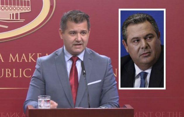 Σκοπιανός κυβερνητικός εκπρόσωπος σε Καμμένο: «Μοιραστήκατε ψευδείς ειδήσεις»