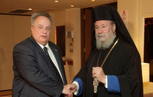 Αρχιεπίσκοπος Κύπρου: Πρώτη φορά ελληνική κυβέρνηση πήρε σωστή θέση στο Κυπριακό με τον Κοτζιά
