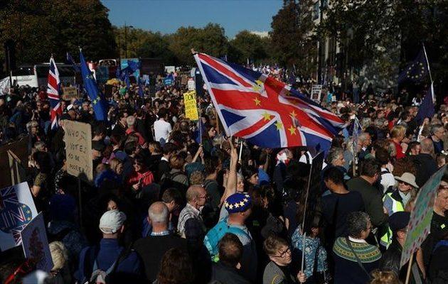 Μεγάλη διαδήλωση κατά του BREXIT στο Λονδίνο – Οι διοργανωτές μίλησαν για 100.000 κόσμο