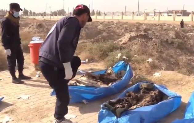 Ο συριακός στρατός ανακάλυψε ομαδικό τάφο με αποκεφαλισμένα γυναικόπαιδα από το Ισλαμικό Κράτος
