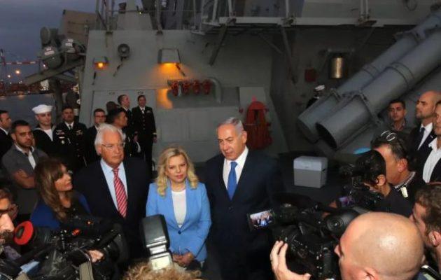 Μετά από 20 χρόνια αμερικανικό πολεμικό πλοίο έδεσε σε λιμάνι του Ισραήλ