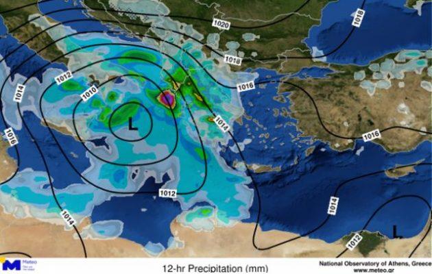 Καιρός: Έρχεται ο «Ορέστης» με ισχυρές βροχές και χαλαζοπτώσεις – Που θα «χτυπήσει»