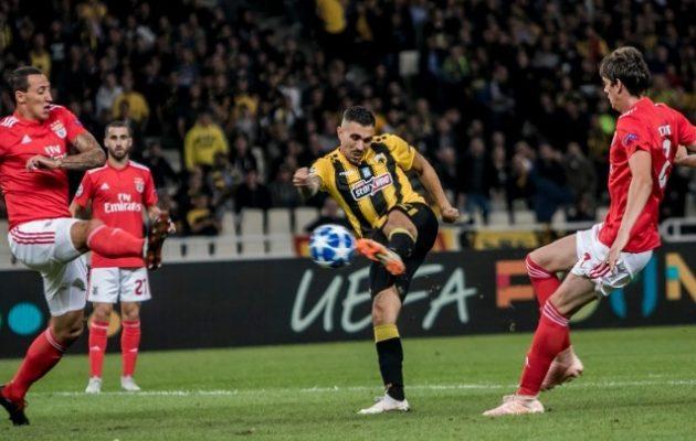 Champions League: Χάνει το τρένο της πρόκρισης η ΑΕΚ, έχασε στο ΟΑΚΑ 3-2 από τη Μπενφίκα