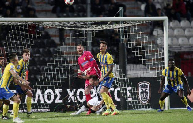 Ο ΠΑΟΚ νίκησε δύσκολα 2-1 τον Παναιτωλικό
