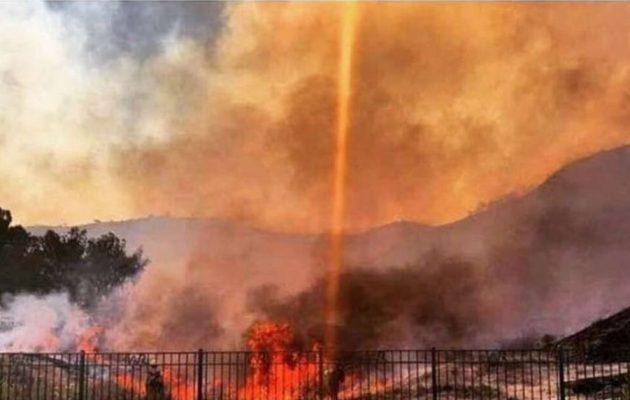 «Οι φωτιές στην Καλιφόρνια άναψαν με λέιζερ εξ ουρανού» ισχυρίζονται Αμερικανοί συνωμοσιολόγοι (φωτο)