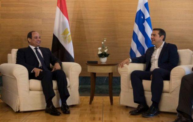 Συναντήθηκαν Τσίπρας-Σίσι στο Παλέρμο – Ελλάδα και Αίγυπτος τα «κανόνισαν» – Οι Τούρκοι έφυγαν