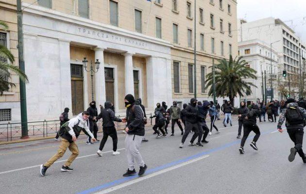 Ένταση στο συλλαλητήριο στην Αθήνα (φωτο)