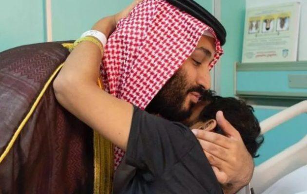 Ο πρίγκιπας διάδοχος της Σαουδικής Αραβίας επισκέφθηκε τους τραυματίες στρατιώτες του (φωτο)