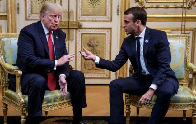 Εξηγήσεις στον Τραμπ για το τι εννοούσε προτείνοντας «ευρωπαϊκό στρατό» δίνει ο Μακρόν