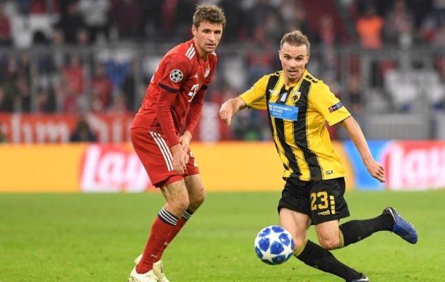 Champions League: Η ΑΕΚ έχασε 2-0 από τη Μπάγερν Μονάχου