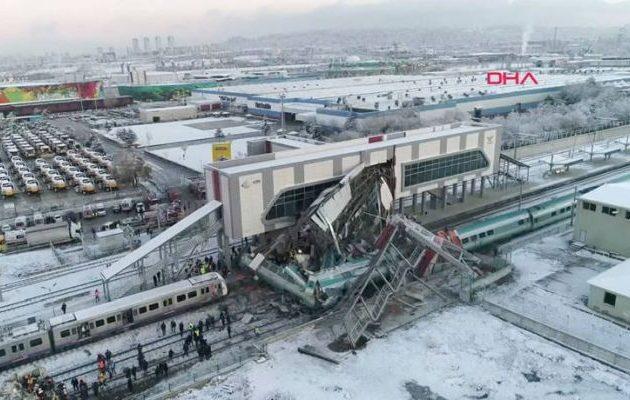 Στους επτά οι νεκροί από το σιδηροδρομικό δυστύχημα στην Τουρκία (βίντεο)
