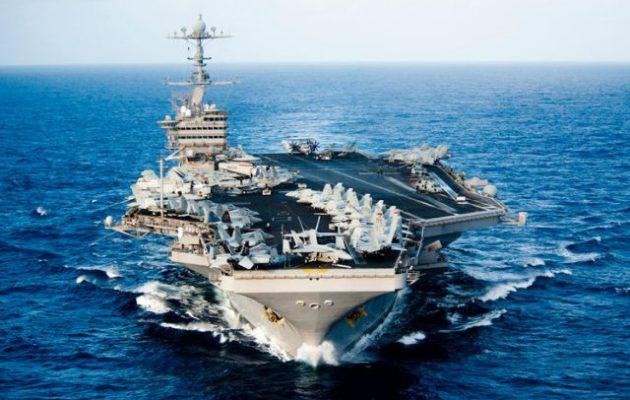 Το αμερικανικό αεροπλανοφόρο USS John C. Stennis έφτασε στη Μέση Ανατολή
