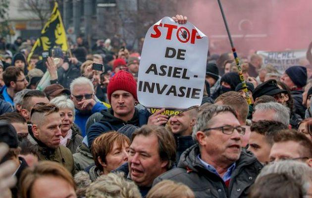 Επεισόδια στις Βρυξέλλες σε διαδήλωση κατά του Συμφώνου του ΟΗΕ για τη Μετανάστευση (βίντεο+φωτο)