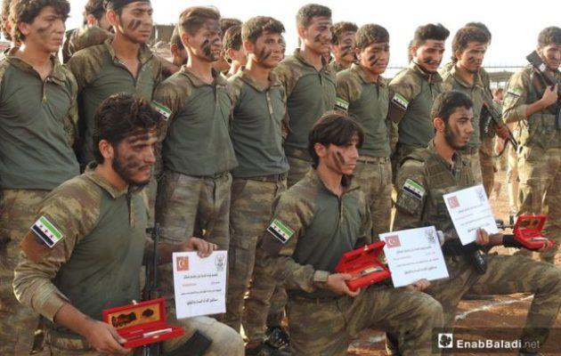 Οι ισλαμιστές μισθοφόροι των Τούρκων έτοιμοι να επιτεθούν ανατολικά του Ευφράτη