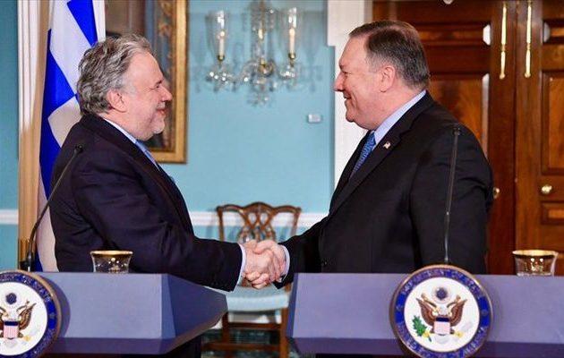 Οι ΗΠΑ εξέφρασαν ικανοποίηση για τον ηγετικό περιφερειακό ρόλο της Ελλάδας